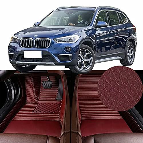 QCYP Alfombrillas para Coches Adecuado para BMW X1 sDrive20Li-Front 4WD 5 Puertas 5 plazas SUV 2019 Alfombrillas para Todo Tipo de Clima Alfombras de Auto,LHD
