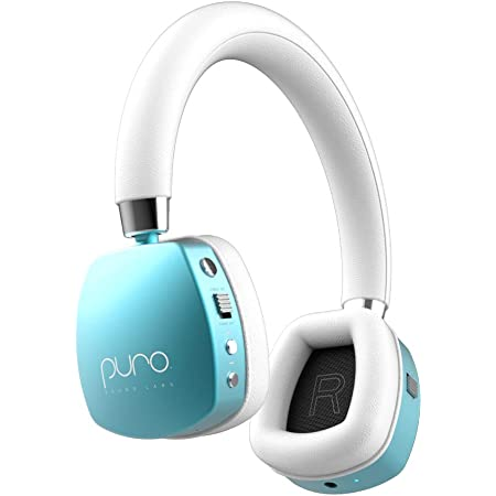 Puro Sound Labs PuroQuiets Volume Limited On-Ear Active Noise Cancelling Bluetooth Headphones – Lightweight Headphones for Kids with Built-in Microphone – Safer Sound Studio-Grade Quality (Teal)