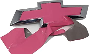 """Qbc Craft Chevy Bowtie Emblem Vinyl Overlay (3 Pack) 3M Gloss Pink Cut-Your-Own Car Wrap Kit DIY GM Truck Grille Logo Easy to Install air Release Film 12"""" x 4"""" Sheets (x3)"""