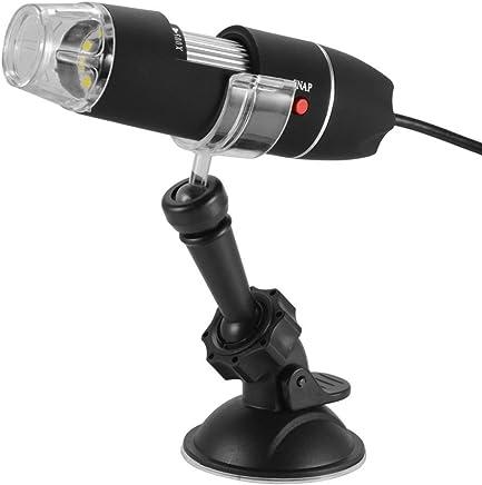 bestomz Microscopio digital USB portátil, Microscopio portátil a elettroni 40 x -1000 x con