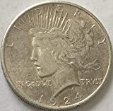 1924 P Silver Peace Dollar XF Condition Extremely Fine Details