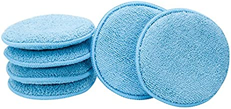 VIKING 862401 Microfiber Applicator and Cleaning Pads - 5 Inch Diameter, Blue, 6 Pack