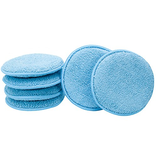 Viking Car Care Microfiber Applicator Pads - Blue - 6 Pack