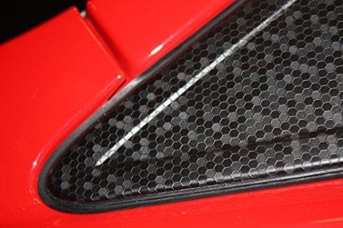 Oracal 975 HC 070 Muster, Wabenfolie für die Fahrzeugfolierung, Musterstück ca. 9x20cm