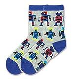 Boy's Robots Crew Sock, Size: 6-8.5 - Robots