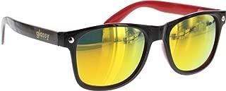 Glassy Leonard Black/Red/Red Mirror Shade