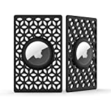 DLENP Airtag Wallet Holder for Apple Tag,2 Packs Air tag Holder,Flex Credit Card Size Air Tags Case