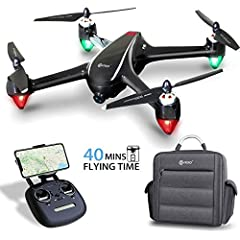 ⭐2K UHD Camera and 5G FPV Transimission - 2K Ultra HD camera (2048*1152P) catches much more details for after-treatment than a 1080P Camera; 120° FOV angle broadens your view; 5G a less-interrupted frequency ensuring more clear and faster image witho...