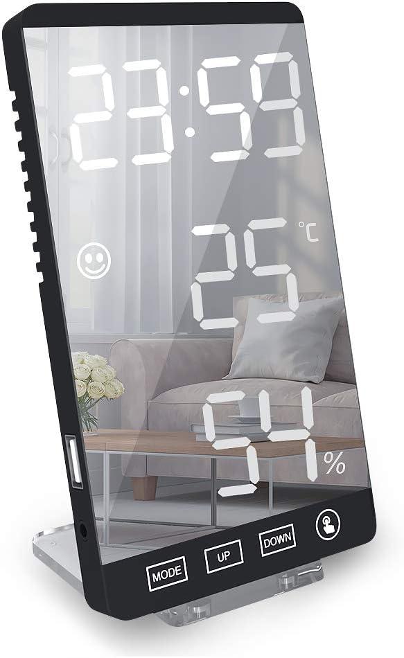 welltop Digital Alarm Clock LED Max It is very popular 73% OFF Large 6'' Display