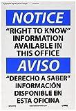 EstherMi19 Aviso – Señal de advertencia de derecho a saber metal, señal de propiedad privada, señal de aviso OSHA, cartel de decoración del hogar