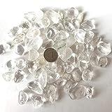 100g Cristal blanco natural Cuarzo Roto Pequeña grava Piedra Cuarzo Transparente Pecera Maceta Jardín Curación Adorno para el hogar-100g 15-30mm_China