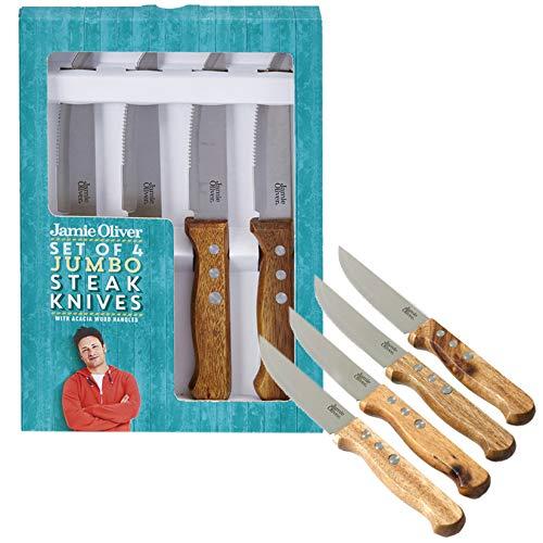 Jamie Oliver 112532 - Coltelli da bistecca, in acciaio INOX