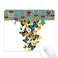 異なる色の蝶 ゲーム用スライドゴムのマウスパッドクリスマス