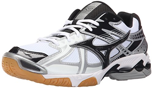 Mizuno Men's Wave Bolt 4 wh-bk Volleyball Shoes, White/Black, 7 D US