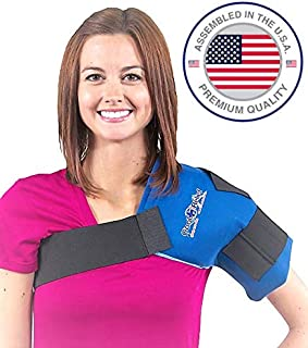 Soft Gel Shoulder Ice Wrap By Cool Relief (Blue Color)