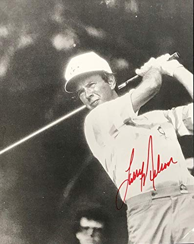 Save %11 Now! Larry Nelson Signed Golf 8x9 Photo - Autographed Golf Equipment