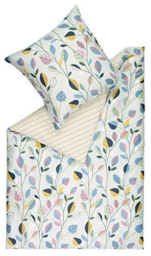 ESPRIT Layla 3teilige Bettwäsche 200x200 cm Baumwolle • waschbarer Bettbezug Natur • 2X Kissenbezüge 80x80 cm • 100% Baumwolle