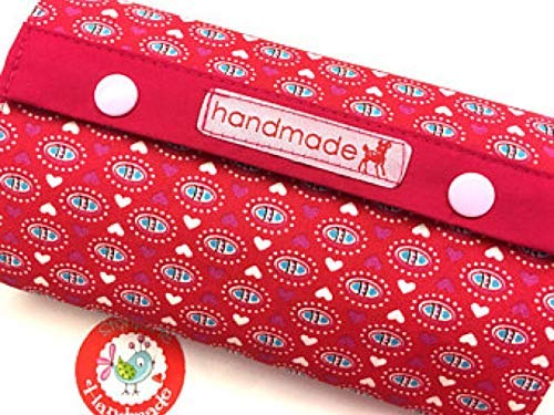 Geldbörse - Dandelion Love - farbenmix - Herzen - Ornamente - rot/pink