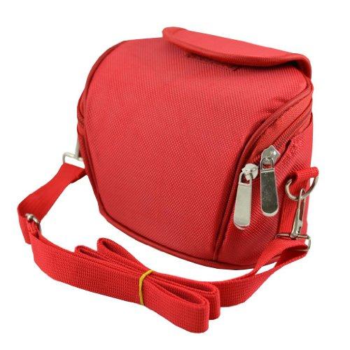 ARS de color rojo cámara para rueda de funda con tapa para cámara de vídeo bolsa para raquetas de tenis para Canon LEGRIA HF M41 M46 M406 R28 R26 R206 S30 M306.