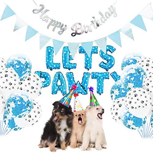 Borlai 23 Piezas de Decoración de Fiesta para Perros Permite Que Pawty...