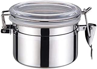 キャニスター ステンレス製缶 キャニスター 保存容器 密封容器 ステンレス製 コーヒー容器 防湿保存缶 茶筒 コーヒー貯蔵缶 大容量密封瓶 密封バルブ 紅茶 砂糖 密封びん 透明カバー