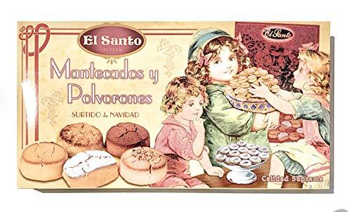 Mantecados y polvorones surtidos El Santo caja 1kg 400g