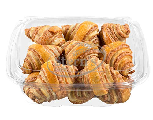 12 Bite Size Pastries | Cinnamon Rolls | Breakfast Cinnamon Buns | Rugelach Pastries | Coffee Snack | Preservative Free & No Coloring Added | 8 oz Stern's Bakery