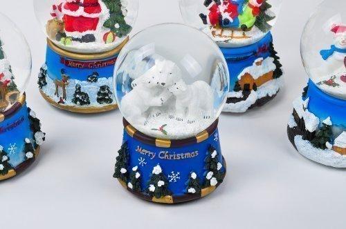 1a-Handelsagentur Weihnachts Schneekugel Verschiedene Motive (Eisbären)