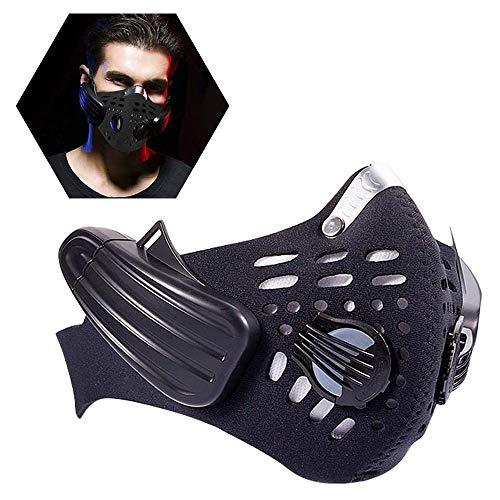 JJIIEE Persönliche tragbare Luftreiniger, Bluetooth 4.0 Musikstaub-Gesichtsschutz, Knochenleitungs-Headset unterstützt Anrufe, für Fitness-Training beim Radfahren Laufen Laufen Wandern Fitness