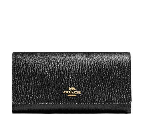 Coach Crossgrain Leather Trifold ID Wallet - #F79868 - Black, Medium