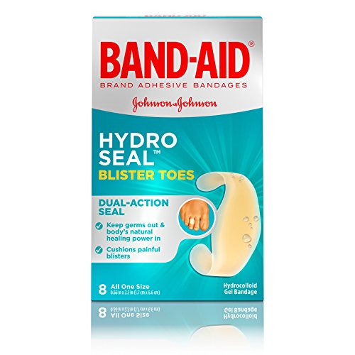 Band-Aid Brand Hydro Seal Adhesive Bandages For Toe Blisters, Waterproof Blister Pads, 8 ct