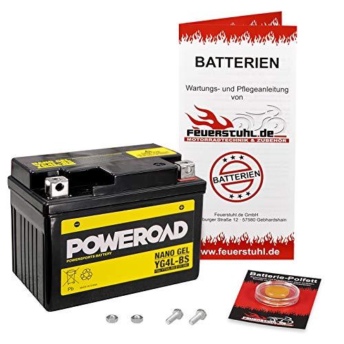 Gel-Batterie für Honda NSR 250 R, 1994-1999 (MC28) wartungsfrei, einbaufertig, startklar, inkl. 7,50€ Pfand