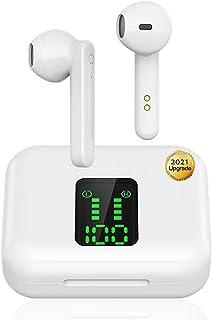 Auriculares Bluetooth 5.0 Integrados, Auriculares inalámbricos, Micrófono Incorporado y Caja de Carga, Reducción Ruido est...