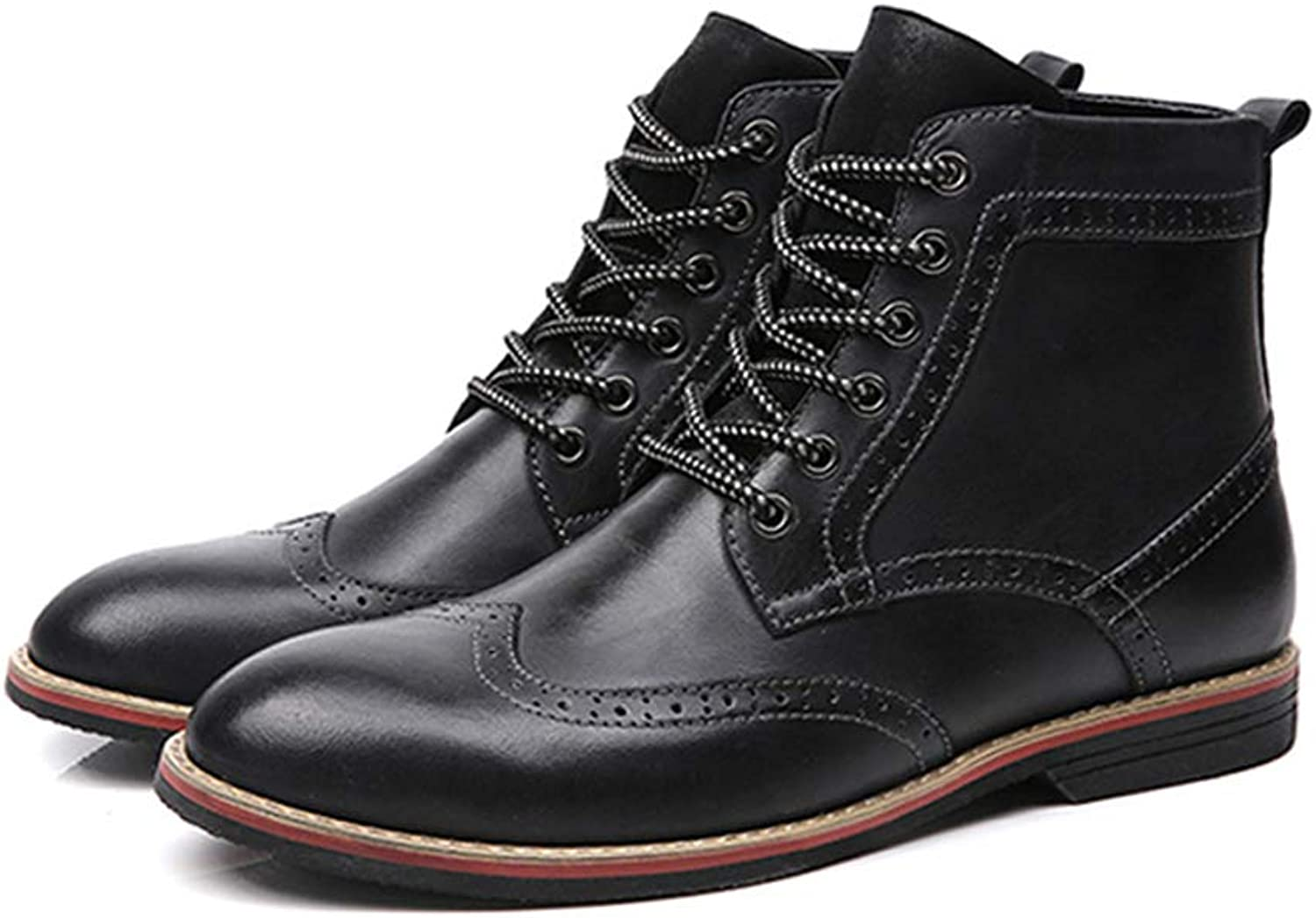 Punk Style New Bullock Carved Martin Boots Leather Boots Plus Velvet Large Size Boots