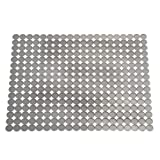 iDesign Kitchen Sink Mat, Large and Adjustable Non-Slip Sink Protector Mat Made of Durable Plastic, Practical Dish Draining Mat for the Kitchen Sink or Countertops, Grey