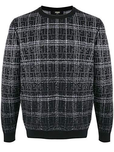 Fendi Luxury Fashion Herren FZZ479A93PF0QA1 Schwarz Wolle Sweater | Frühling Sommer 20