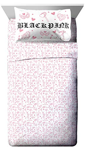 Jay Franco Blackpink Kill This Love Full Sheet Set - 4 Piece Set Super Soft and Cozy Bedding - Fade Resistant Microfiber Sheets (Official Blackpink Product)