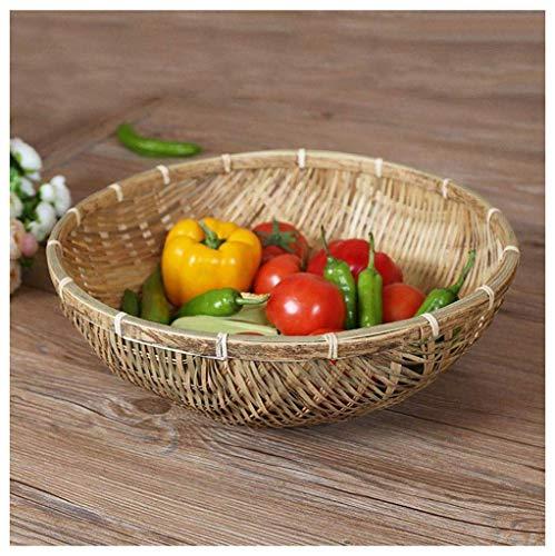 Kaikai Frutero de bambú cestas de Pan Canasta de Almacenamiento Cesto Platos for Las Frutas Verduras Drenaje de la Cesta Snack Food 1PCS