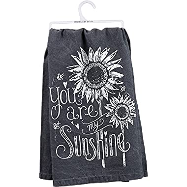 Primitives by Kathy 26885 Chalk Dish Towel, 28  x 28 , You Are My Sunshine
