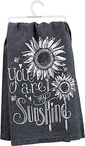 Primitives by Kathy 26885 Chalk Dish Towel, 28' x 28', You Are My Sunshine