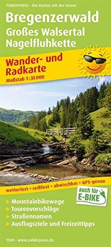 Bregenzerwald, Großes Walsertal, Nagelfluhkette: Wander- und Radkarte mit Ausflugszielen & Freizeittipps, wetterfest, reißfest, abwischbar, GPS-genau. 1:35000 (Wander- und Radkarte / WuRK)