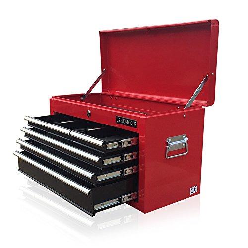 Caja de herramientas portátil US PRO TOOLS con 6cajones deslizantes con...