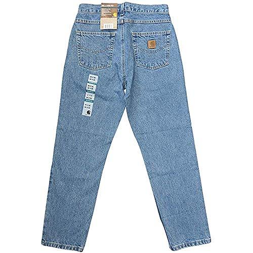 カーハート リラックスフィット テーパード ジーンズ デニム パンツ ライトブルー CARHARTT RELAXED FIT TAPERED LEG JEAN size 32inch