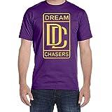 COOL ZHANGU Men's Dream Chasers MMG Meek Mill Black T-Shirt Purple
