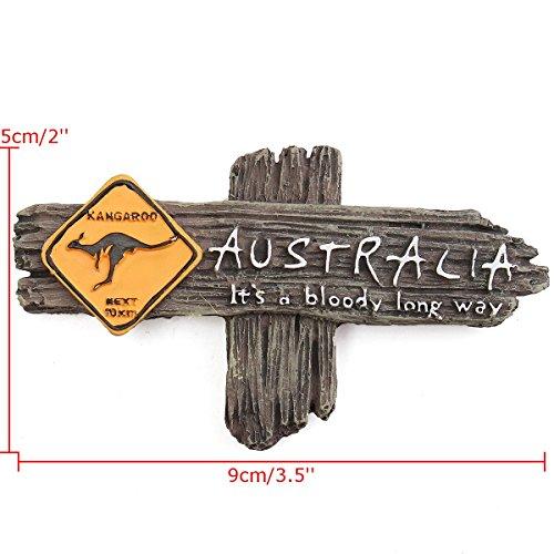 VIDOO Bloody Long Way Australia Canguro Resina Recuerdo 3D Nevera Imán