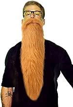 Blonde Beard & Mustache Set | Blond ZZ Top Style Lumberjack Hillbilly Long Costume Beard & Mustache Set