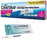 Vorteilspack - 5 x Schwangerschaftstest Frühtest 10 miu/ml + 1 x Clearblue Schwangerschaftstest Digital mit Anzeige der Wochen