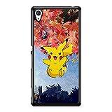 Coque pour Sony Xperia XZ Premium (Plus Grand) Pokemon go Team Pokedex Pikachu Manga Tortank Game...