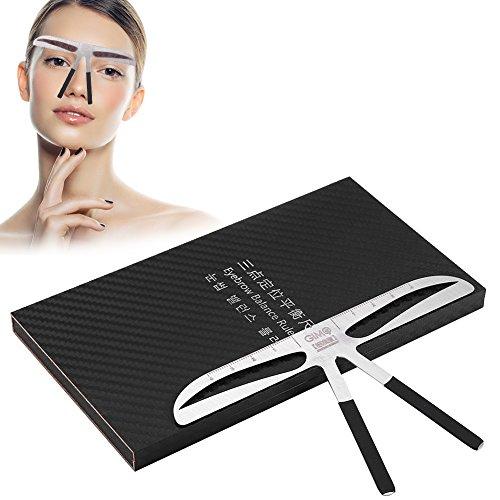 Règle de sourcil, mesure permanente de sourcil de tatouage extension d'équilibre Conception de positionnement de trois points Outil de maquillage d'acier inoxydable(sourcil standard)