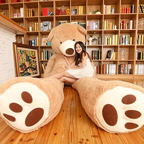 CLINGE Teddy Bear Skin Empty Teddy Bear Huge American Giant Bear Skin Teddy Bear Coat Factary Price Soft Toys for Girls-Light Brown skin-340cm